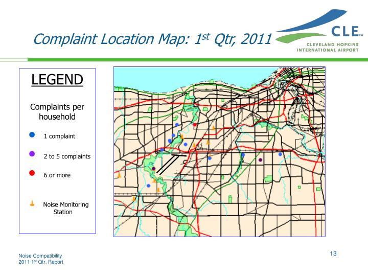 Complaint Location Map: 1
