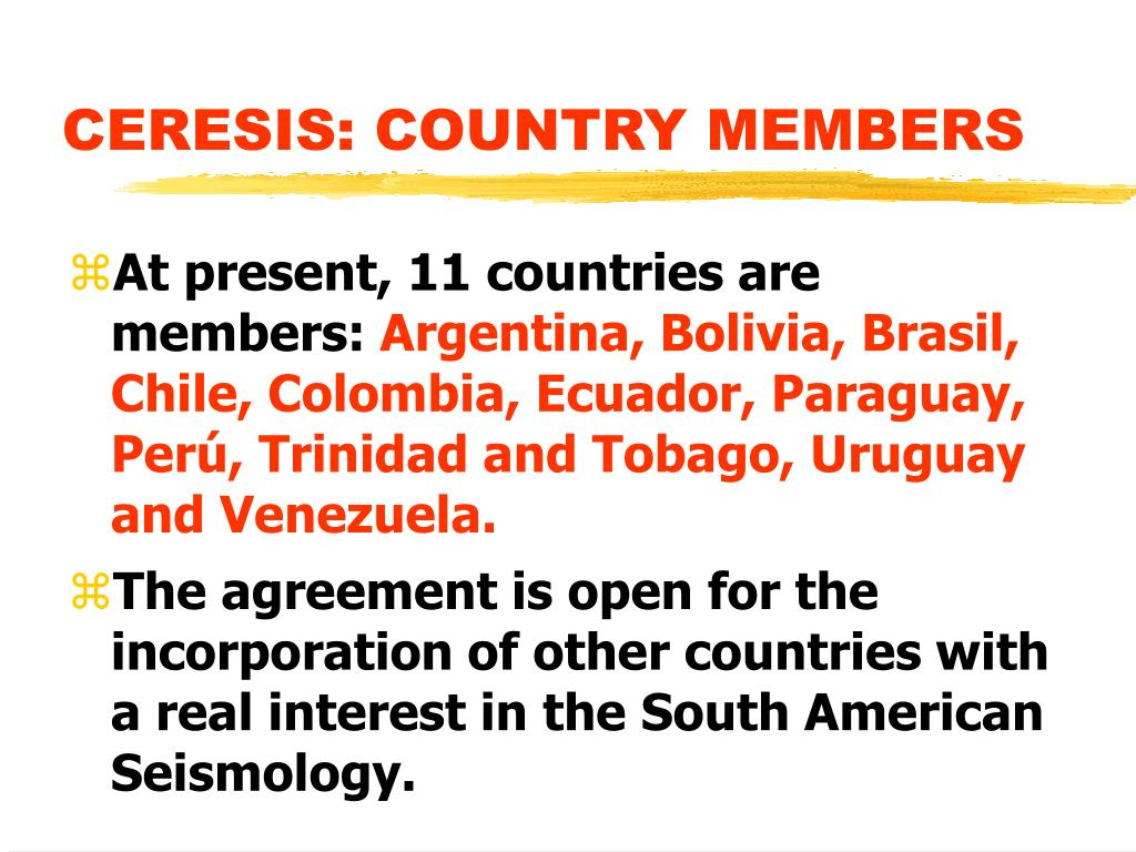 CERESIS: COUNTRY MEMBERS
