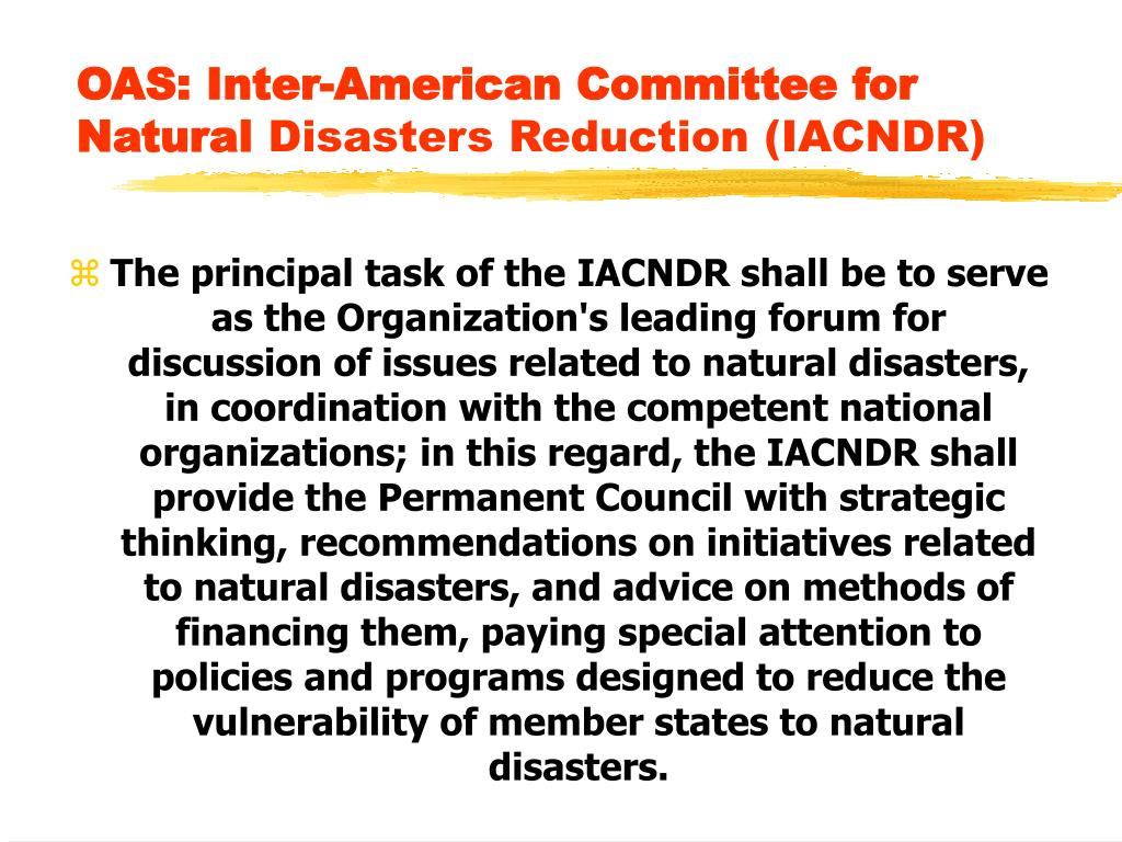 OAS: Inter-American Committee for Natural