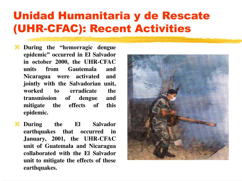 Unidad Humanitaria y de Rescate (UHR-CFAC): Recent Activities