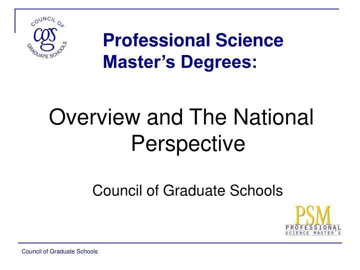 professional science master s degrees n.