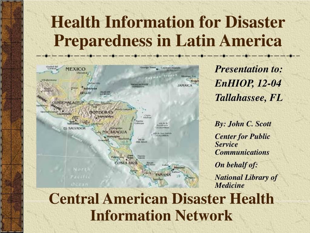 Health Information for Disaster Preparedness in Latin America