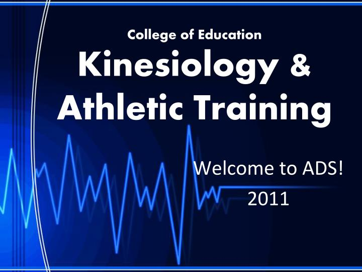 college of education kinesiology athletic training n.