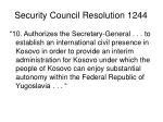 security council resolution 1244