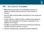 we the council examples11
