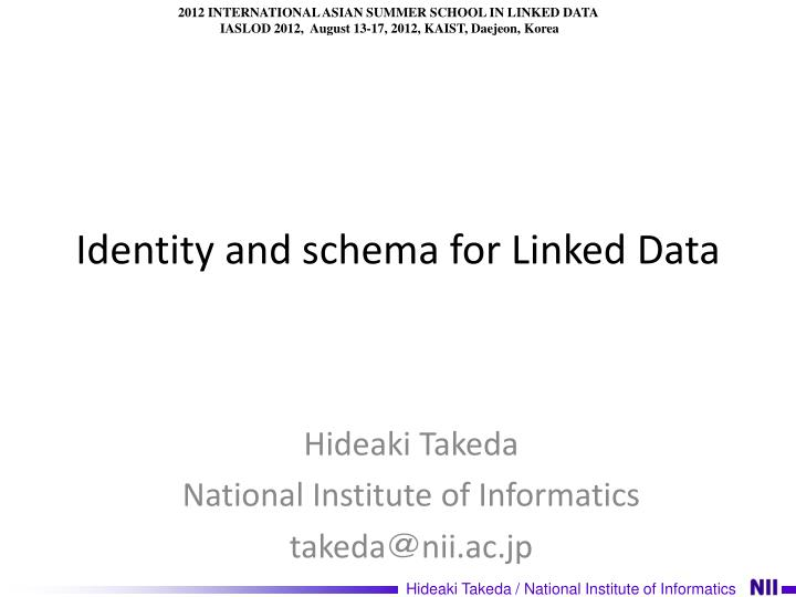 identity and schema for linked data n.