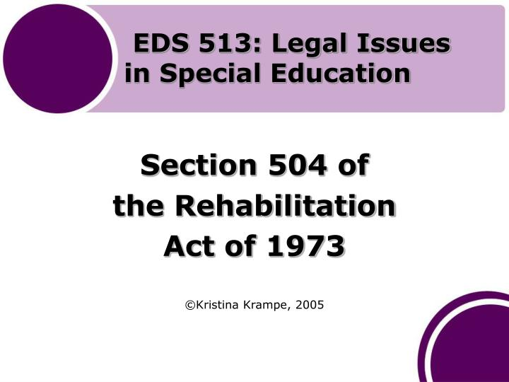 eds 513 legal issues in special education n.