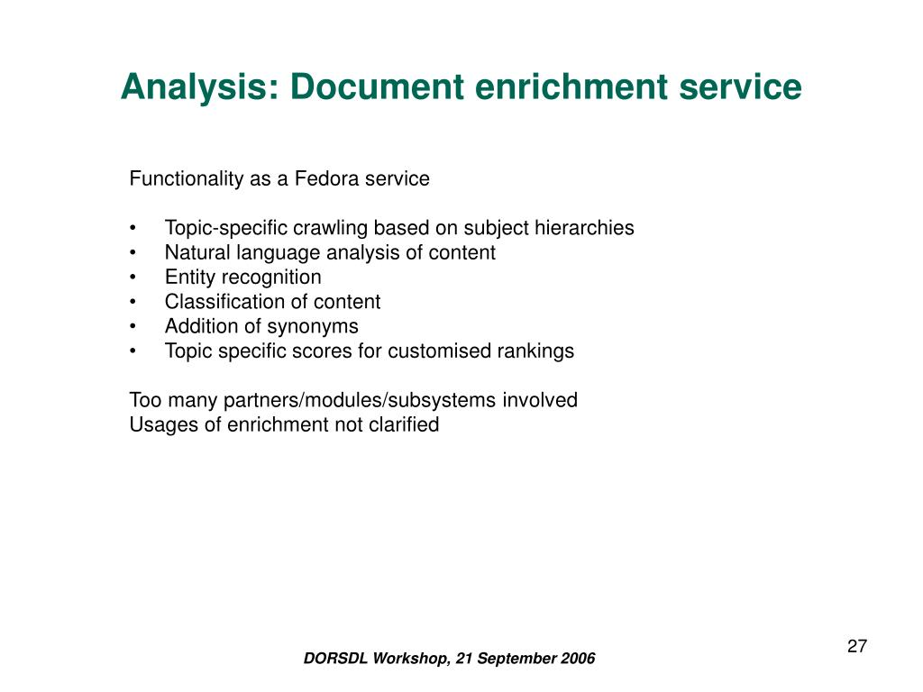 Analysis: Document enrichment service
