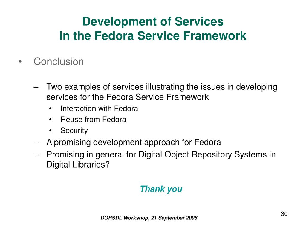 Development of Services