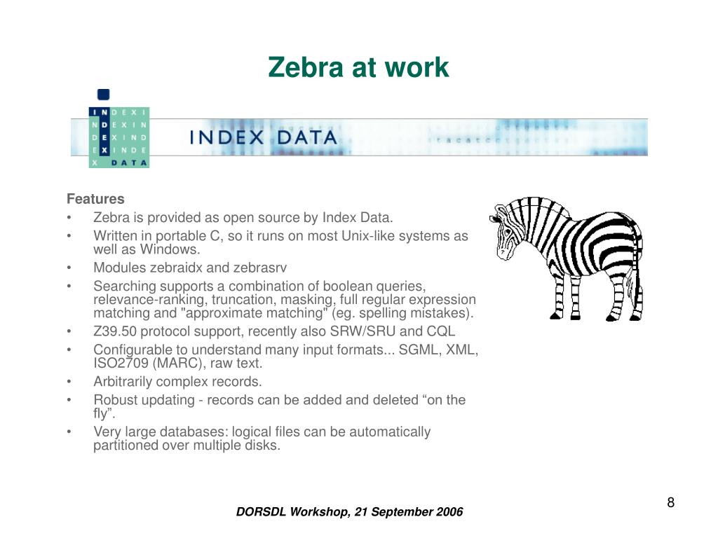 Zebra at work