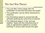 the just war theory