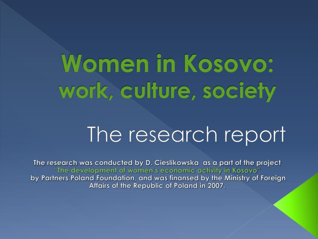 women in kosovo work culture society l.