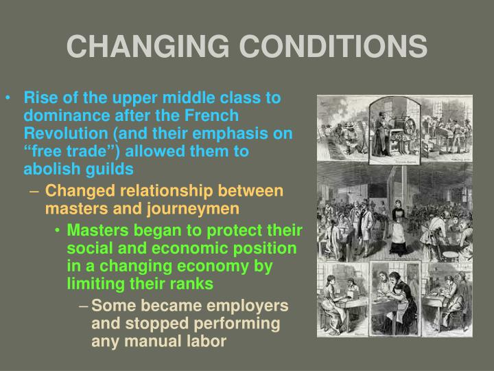 CHANGING CONDITIONS