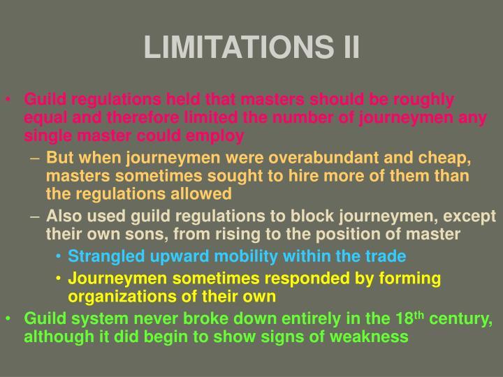 LIMITATIONS II