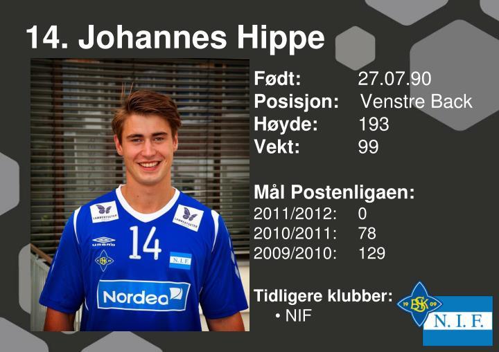 14. Johannes Hippe