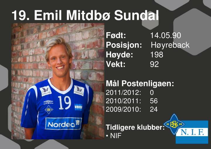 19. Emil Mitdbø Sundal