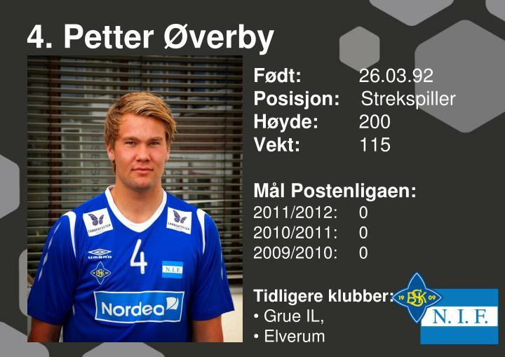 4. Petter Øverby