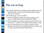 the war on iraq