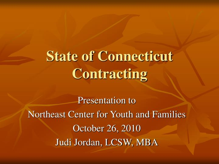 state of connecticut contracting n.