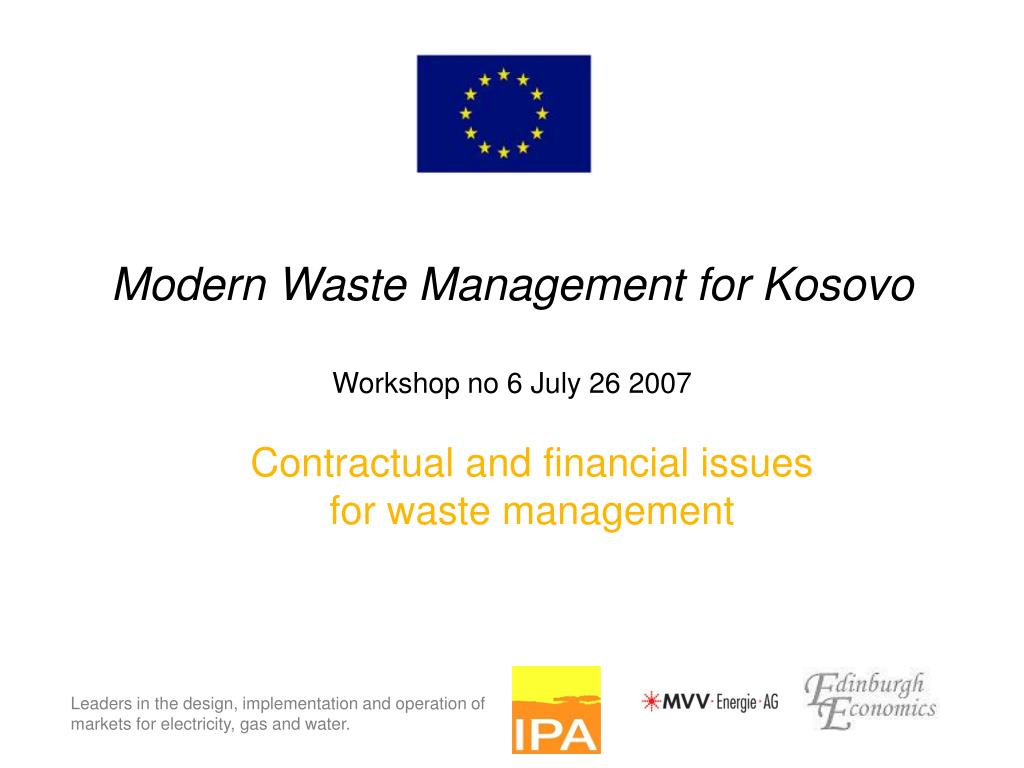 modern waste management for kosovo workshop no 6 july 26 2007 l.