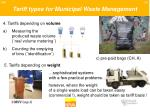 tariff types for municipal waste management26