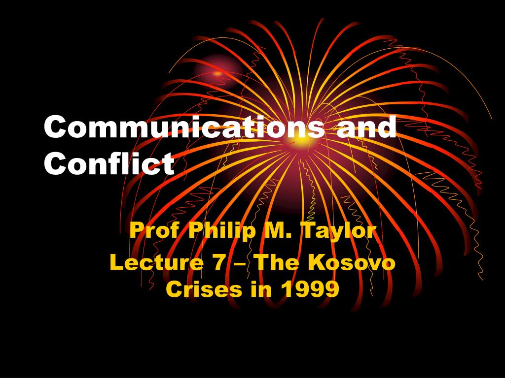 communications and conflict