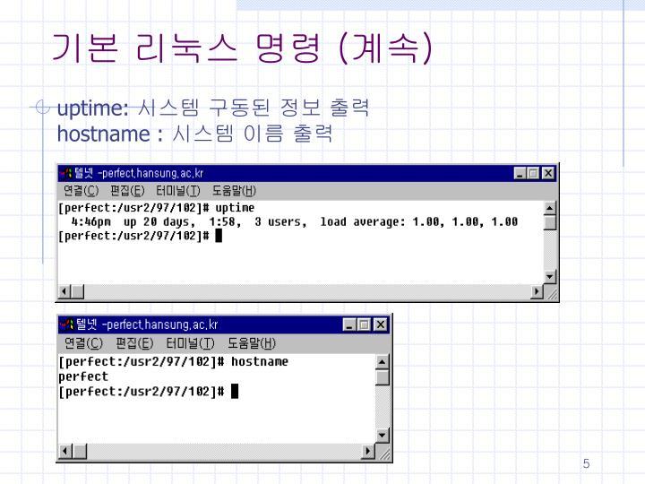 기본 리눅스 명령