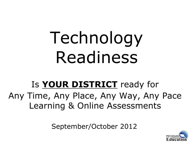 technology readiness n.