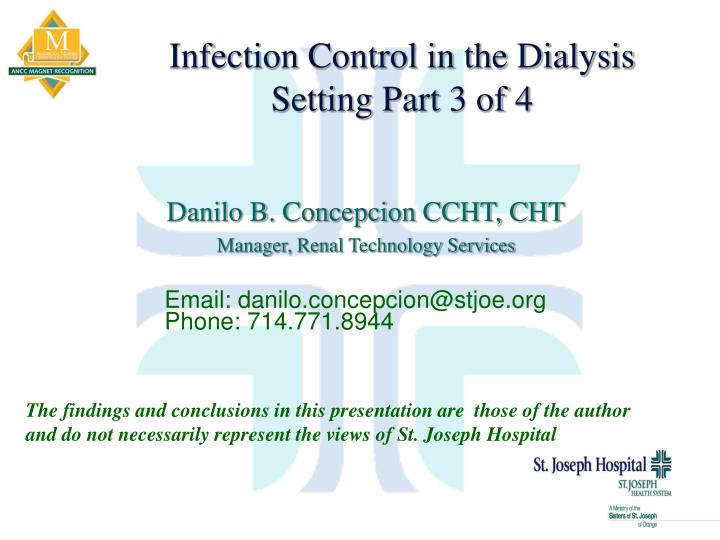 infection control in the dialysis setting part 3 of 4 n.