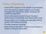 policy objectives