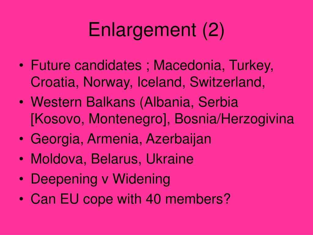Enlargement (2)