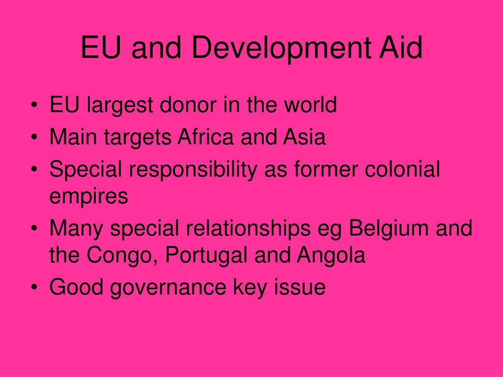 EU and Development Aid