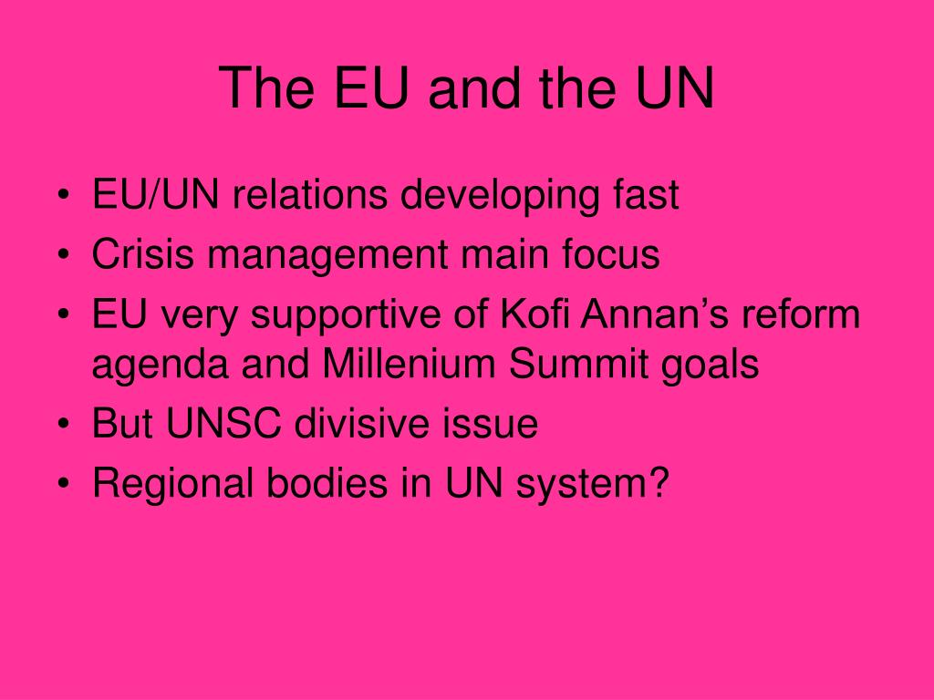 The EU and the UN