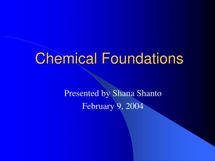 chemical foundations n.