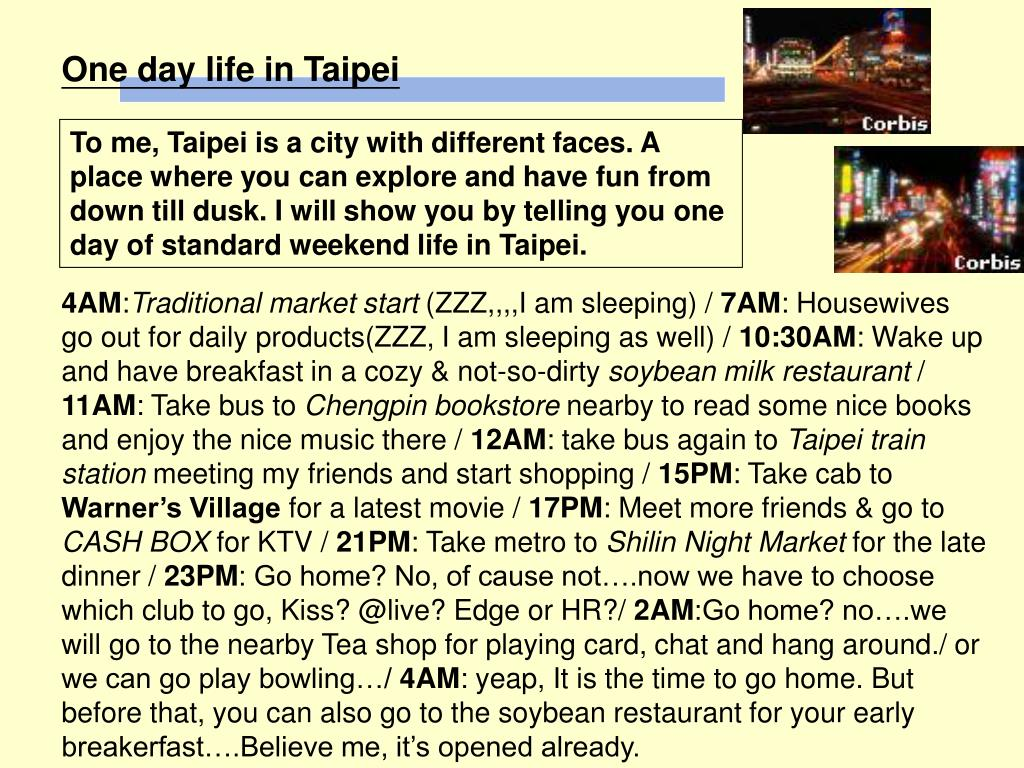 One day life in Taipei