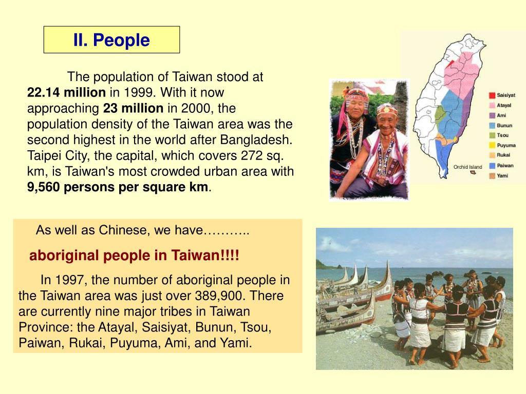 II. People