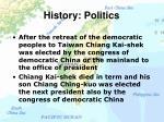 history politics