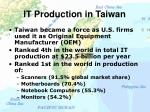 it production in taiwan