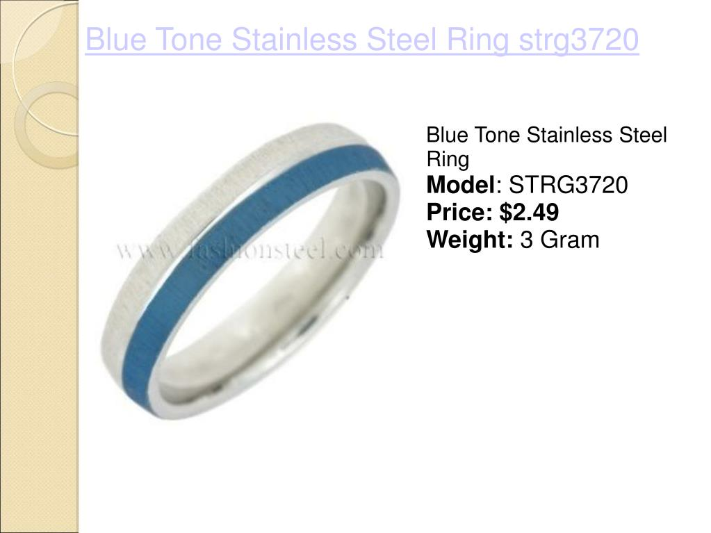 Blue Tone Stainless Steel Ring strg3720