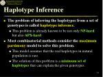 haplotype inference