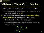 minimum clique cover problem