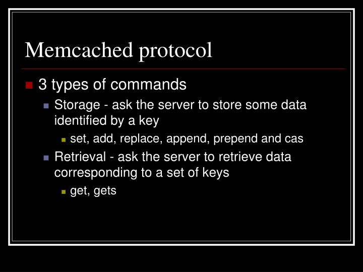 Memcached protocol