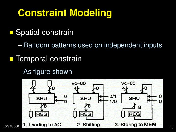 Constraint Modeling