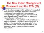 the new public management movement and the icts ii