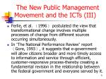 the new public management movement and the icts iii