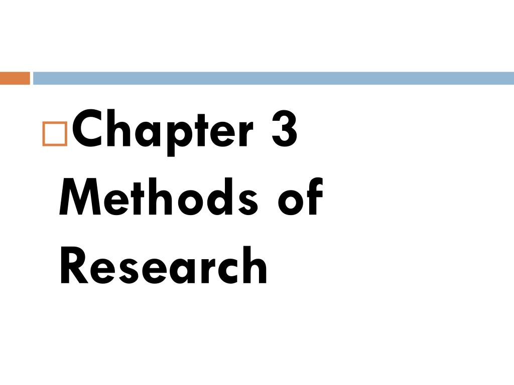 Chapter 3 Methods of Research