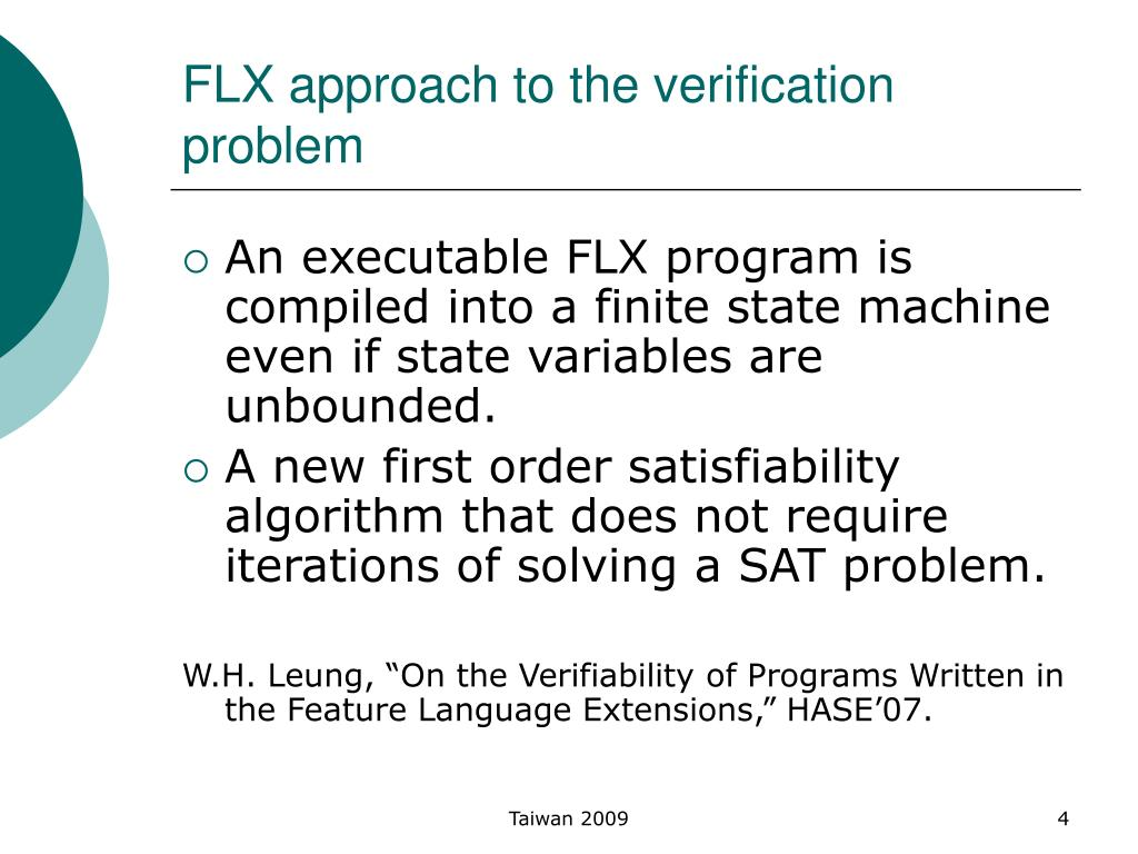 FLX approach to the verification problem