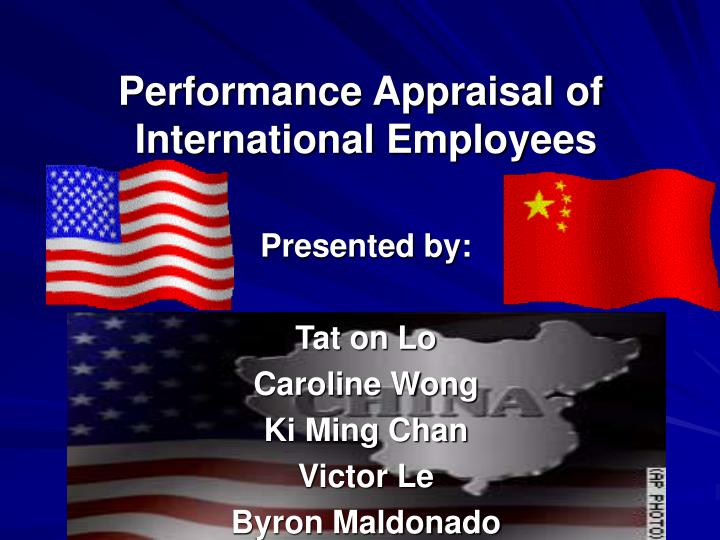 performance appraisal of international employees n.