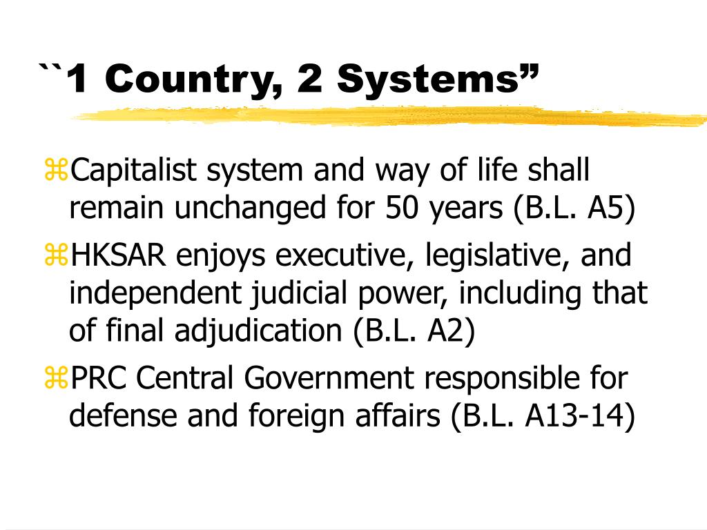 ``1 Country, 2 Systems""