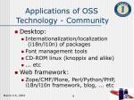 applications of oss technology community
